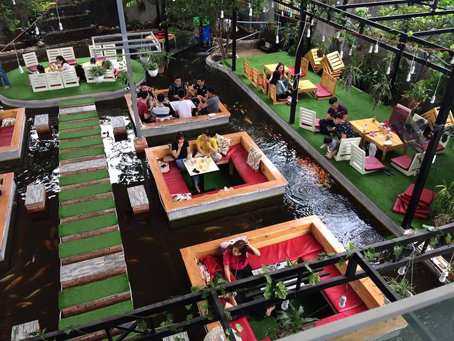 cafe Cá KOI độc đáo ở Biên Hòa