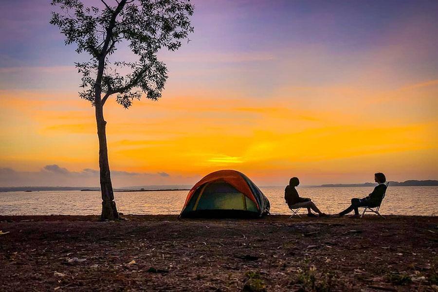 Review địa điểm đi picnic cắm trại ở hồ Trị An Đồng Nai